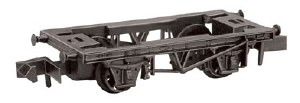 Peco N NR-120 9ft Wheelbase Wagon Chassis with Steel Type Solebars and Disc Wheels