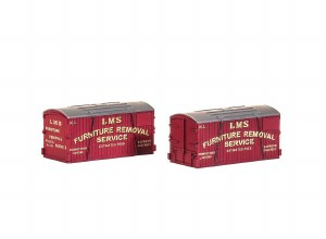 Peco N NR-212 LMS Furniture Removals Container (pack of 2)