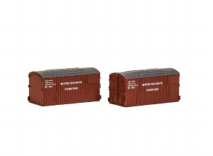 Peco N NR-216 BR Furniture Removals Container (pack of 2)