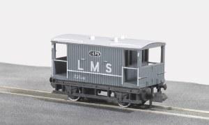Peco N NR-48M 10ft Wheelbase Brake Van,  LMS