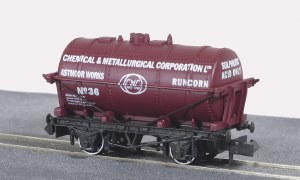 Peco N NR-P173 10ft Wheelbase Tnk Wagon, Chem