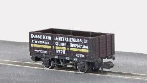 Peco N NR-P411 10ft Wheelbase Coal, 7 Plank,