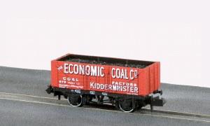 Peco N NR-P414 10ft Wheelbase Coal, 7 Plank,