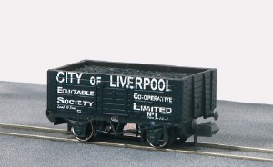 Peco N NR-P419 10ft Wheelbase Coal, 7 Plank,C