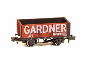 Peco N NR-P427 10ft Wheelbase Coal, 7 Plank 'Gardner Coal Merchant' Norwich