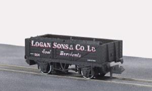 Peco N NR-P480 10ft Wheelbase Coal, 5 plank,
