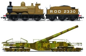 Oxford Rail OO OR76BOOM01XS WWI Boche Buster Camouflage and ROD2330 DCC Sound