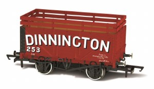 Oxford Rail OO OR76CK7001 7 Plank Coke Wagon 'Dinnington' 253 with 2 Coke Rails