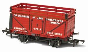 Oxford Rail OO OR76CK7003 7 Plank Mineral Wagon 'John Hargreaves' (2 Coke Rails)