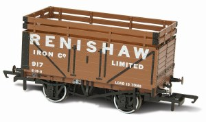 Oxford Rail OO OR76CK7004 7 Plank Mineral Wagon 'Renishaw Iron Co' 917 (2 Coke Rails)