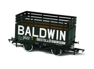 Oxford Rail OO OR76CK7006 7 Plank Mineral Wagon 'Baldwin' 3022  Black (3 Coke Rails)