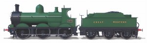 Oxford Rail OO OR76DG003XS Class 2301 Deans Goods 0-6-0 'Great Western' Unlined 2475 DCC Sound
