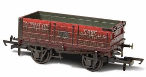 Oxford Rail OO OR76MW4002W Weathered R.Taylor & Sons Ltd 4 Plank Mineral Wagon