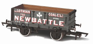 Oxford Rail OO OR76MW4005 4 Plank Wagon 'Lothian Coal Co Newbattle' 792
