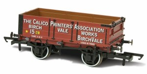 Oxford Rail OO OR76MW4010 Calico Printers Assn 15 Mineral Wagon 4 plank