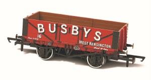Oxford Rail OO OR76MW5002 Busbys West Kensingtin No16 5 Plank Mineral Wagon
