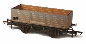 Oxford Rail OO OR76MW6002W 6 Plank Wagon BR E158266 Weathered