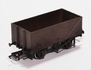 Oxford Rail OO OR76MW7013W 7 Plank Mineral Wagon BR Grey P73162 Weathered