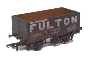 Oxford Rail OO OR76MW7018W 7 Plank Mineral Wagon 'Fulton Coal' Weathered