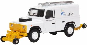 Oxford Rail OO OR76ROR007 Rail/Road Land Rover Defender Carillion