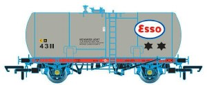 Oxford Rail OO OR76TKA002 Class A Tank 35T GLW 'Esso' 4022 Revised Suspension