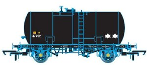 Oxford Rail OO OR76TKB002 Class B Tank 35T FLW Esso Unbranded Black 47792 Revised Suspension