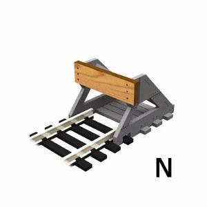 Proses N PBF-N-01 2 X N Scale Buffer Stop w/Wooden Bumper