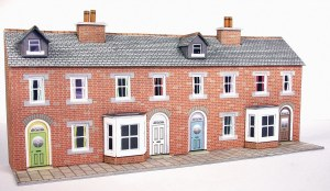 Metcalfe N PN174 Low Relief Red Brick Terraced House Fronts