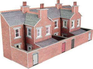 Metcalfe N PN176 Low Relief Terrace House Backs Red Brick