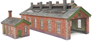 Metcalfe N PN913 Engine Shed Double Track in Red Brick