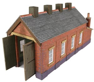 Metcalfe N PN931 Single Track Engine Shed Red Brick