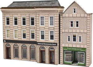 Metcalfe N PN971 Bank & Shop in Low Relief
