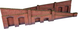 Metcalfe OO PO248 Tapered Retaining Wall in Red Brick