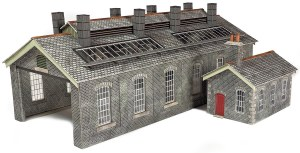 Metcalfe OO PO337 Settle Carlisle Railway Station Engine Shed in Stone