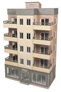 Metcalfe OO PO360 Tower Block Low Relief