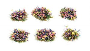 Peco Other PSG-51 4mm Self Adhesive Grass Tufts Flowers (Pack of 100)