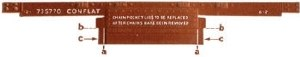 Peco OO R-64 Conflat single plank bauxite