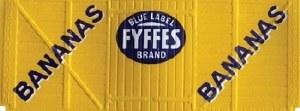 Peco OO R-72F Box Van Fyffes yellow