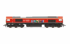 Hornby OO R30074 DB, Class 66, Co-Co, 66113 'Delivering For Our Key Workers' - Era 11