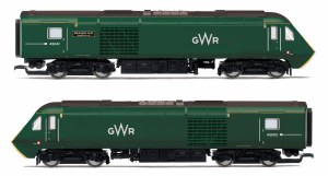 Hornby OO R3685 GWR, Class 43 HST, Power Cars 43041 'Meningitis Trust Support for Life' and 43005 - Era 11