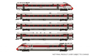 Hornby OO R3762 LNER Hitachi IEP Bi-Mode Class 800/1 'Azuma' Five Car Train Pack