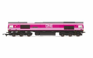 Hornby OO R3923 Ocean Network Express, Class 66, Co-Co, 66587 'As One, We Can' - Era 11