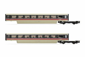 Hornby OO R40011 BR, Class 370 Advanced Passenger Train 2-car TS Coach Pack, 48203 + 48204 - Era 7