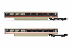 Hornby OO R40012A BR, Class 370 Advanced Passenger Train 2-car TRBS Coach Pack, 48401 + 48402 - Era 7