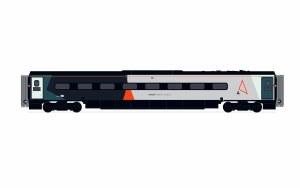 Hornby OO R40016 Avanti West Coast, Pendolino Trailer Standard (TS) 68856