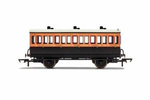 Hornby OO R40062 LSWR, 4 Wheel Coach, 3rd Class, 302 - Era 2