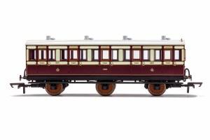 Hornby OO R40074A LNWR, 6 Wheel Coach, 3rd Class, 4671 - Era 2