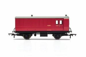 Hornby OO R40080 BR, 4 Wheel Coach, Brake Baggage, E210E - Era 4