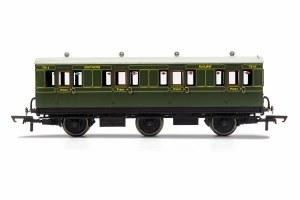 Hornby OO R40085 SR, 6 Wheel Coach, 1st Class, 7514 - Era 3