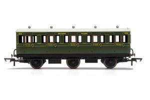 Hornby OO R40086A SR, 6 Wheel Coach, 3rd Class, 1909 - Era 3